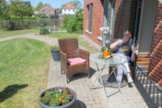 Alle Quarantäne-Zimmer haben auch eine Terrasse und einen Zugang zum Garten. (Foto: Alexander Hauffen/SMMP)
